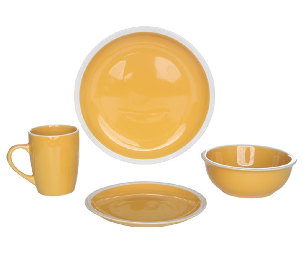 Set de masa 16 piese Inca Yellow