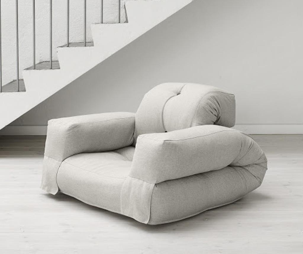 Raztegljiv fotelj Hippo Linen Half