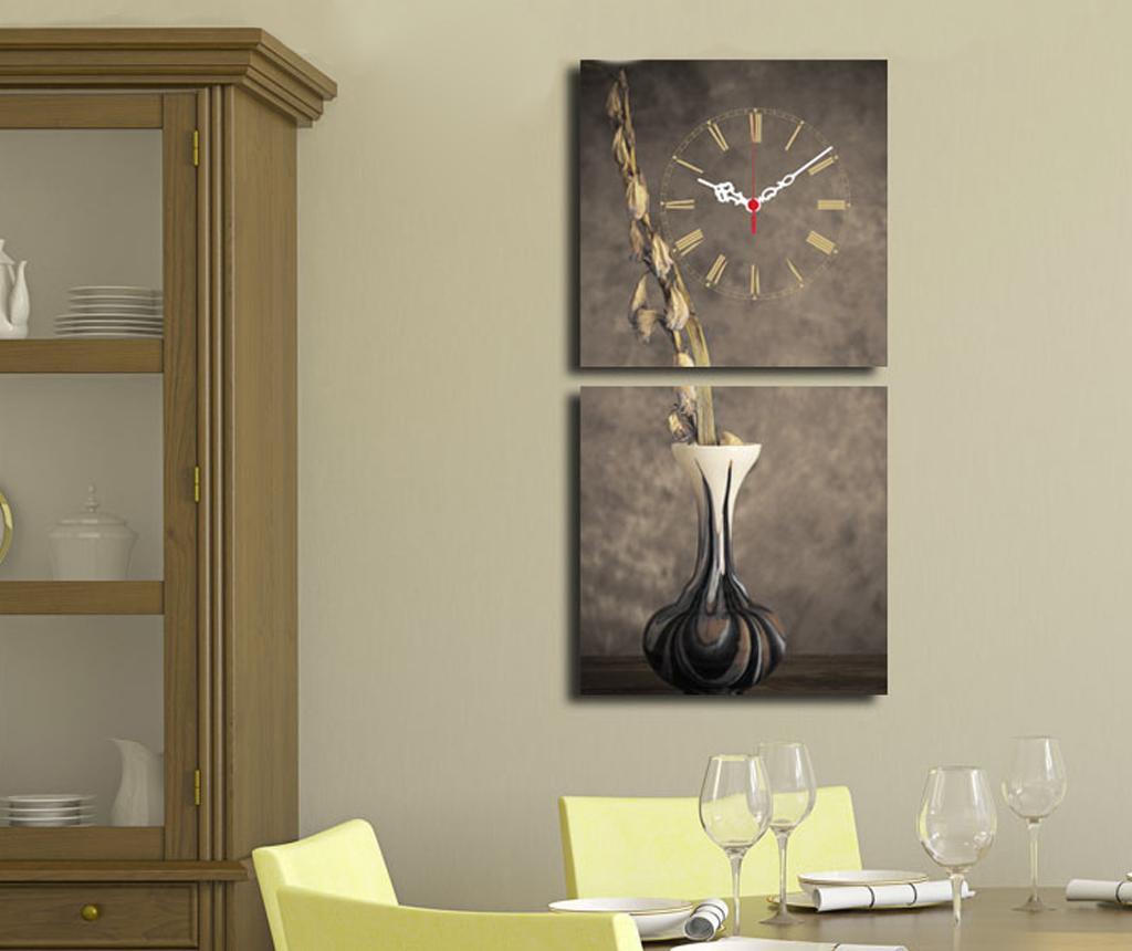 Vase 2 db Kép órával 28x28 cm