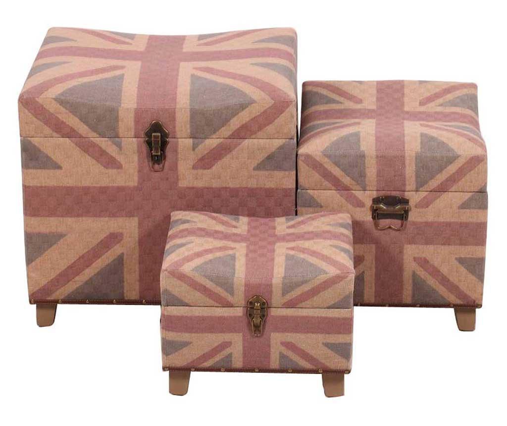 Set 2 taburea i tabure za noge British Flag