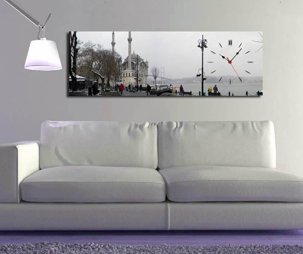 Tablou cu ceas Vacantion 30x90 cm