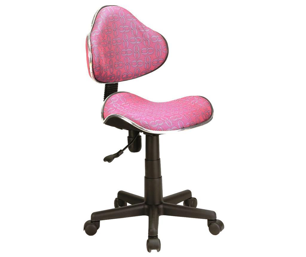 Otroški pisarniški stol Checkers Pink