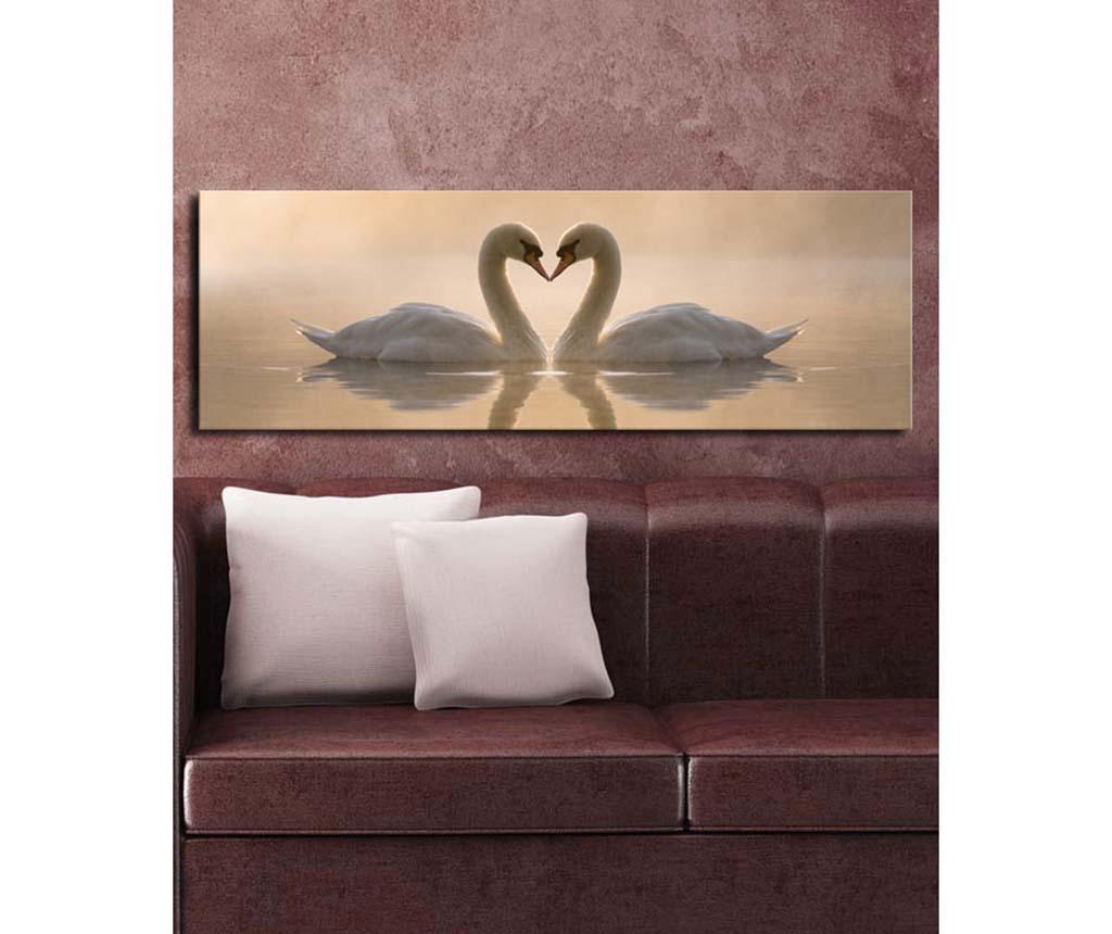 Tablou Swans 30x90 cm