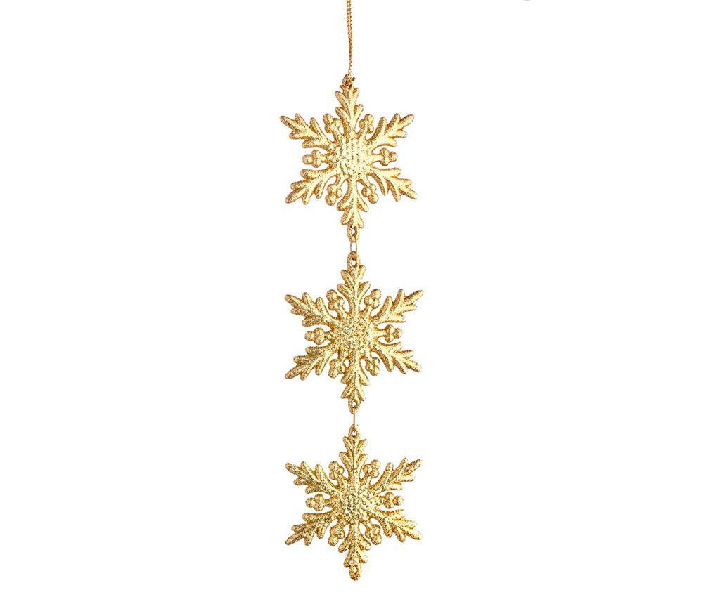 Snowflake Triple Gold Felfüggeszthető dekoráció