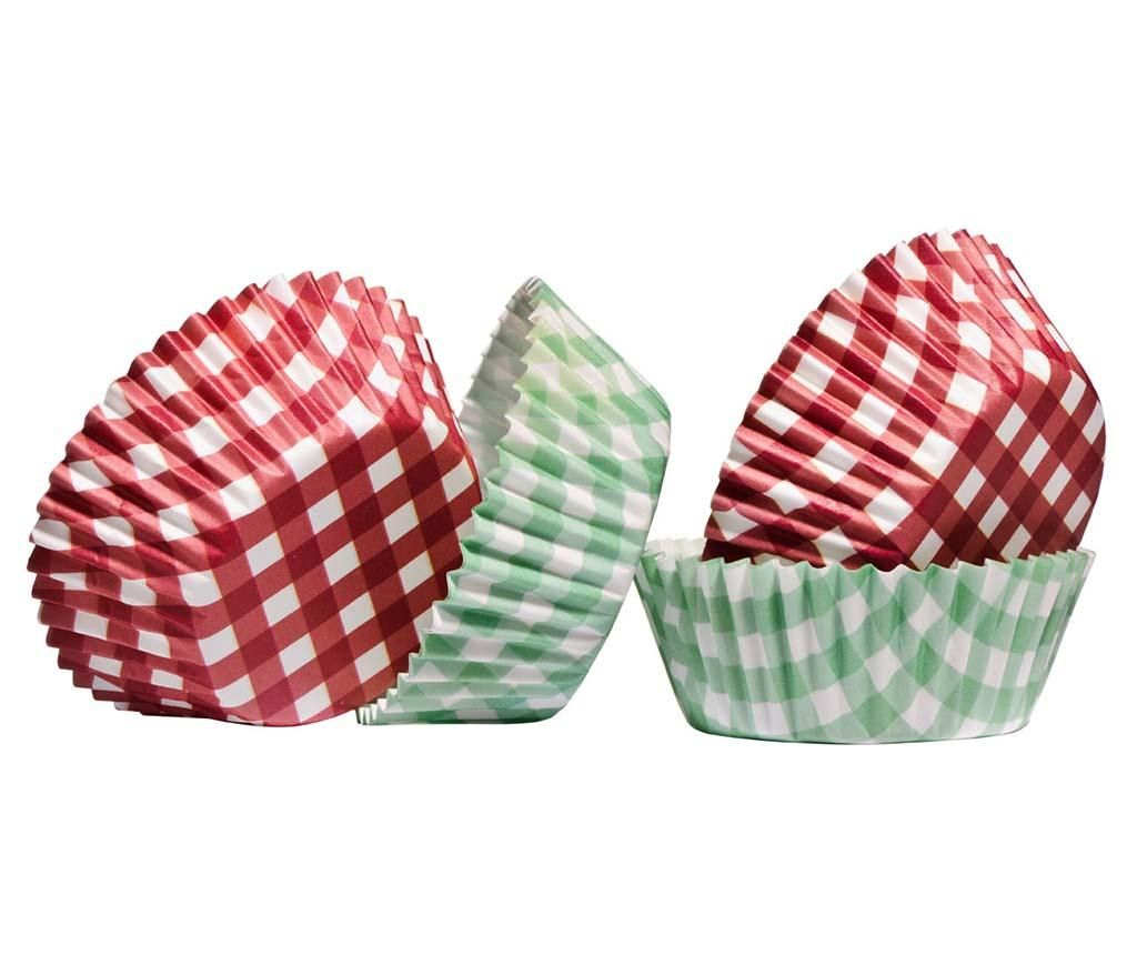 Gingham 60 db Muffin forma