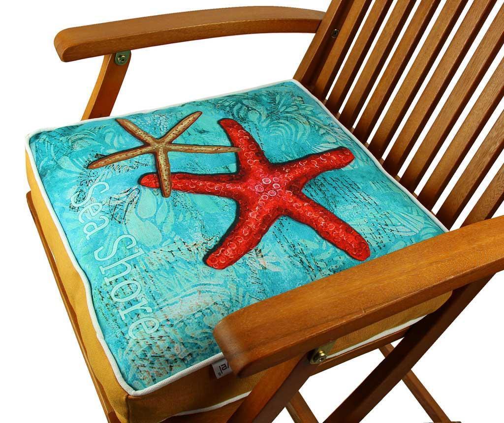Poduszka na siedzisko Red Starfish 42x42 cm