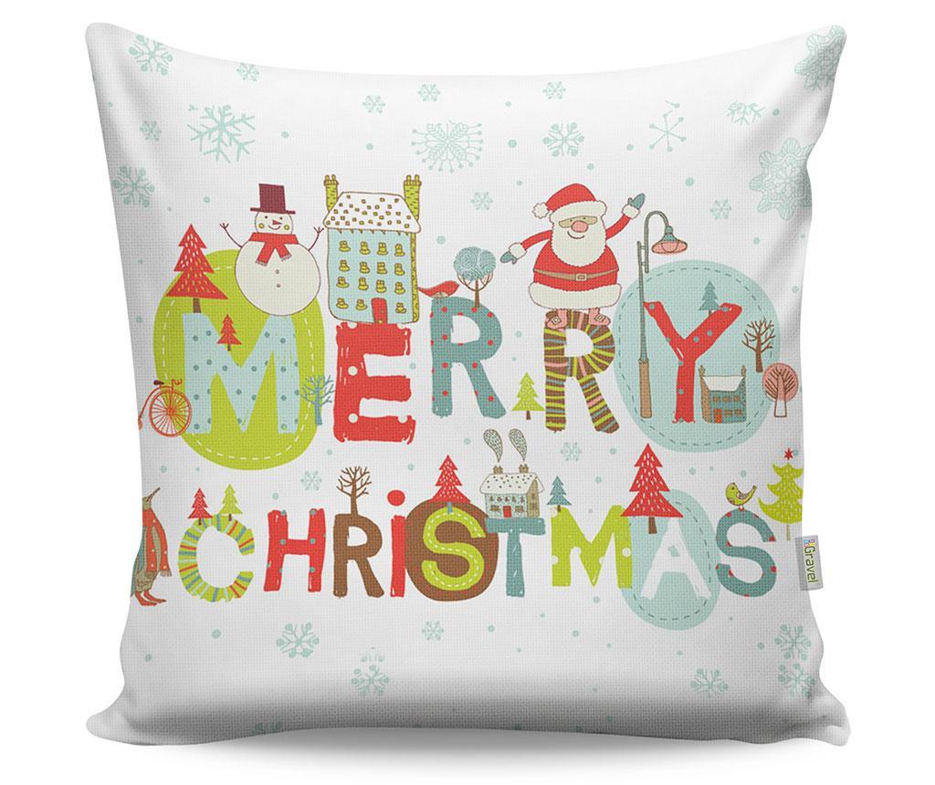 Okrasna blazina Happy Christmas 43x43 cm