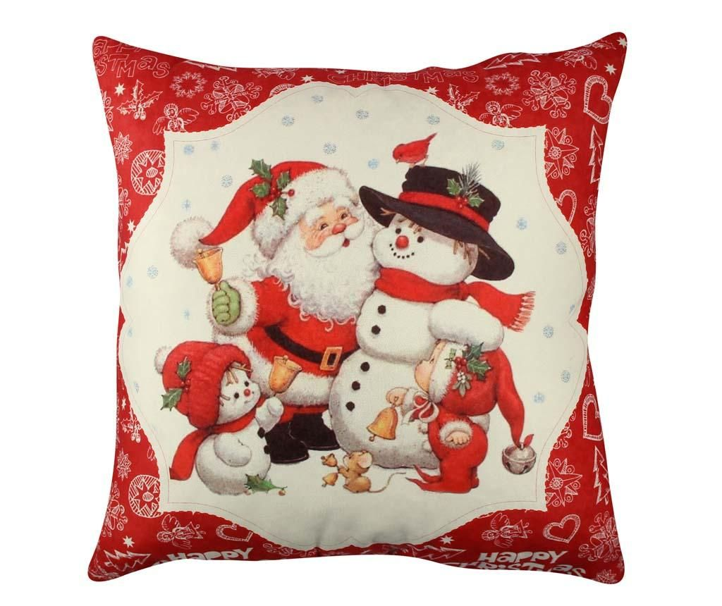 Okrasna blazina Snowman Family 43x43 cm