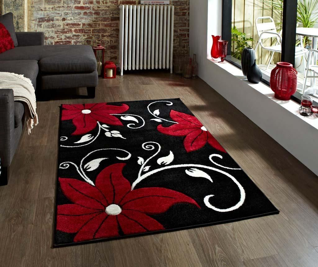 Preproga Verona Black and Red 60x120 cm