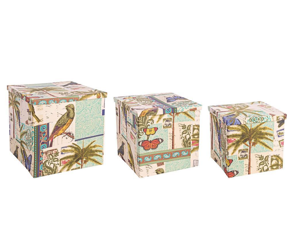 Cuban Flora 3 db Tárolódoboz fedővel
