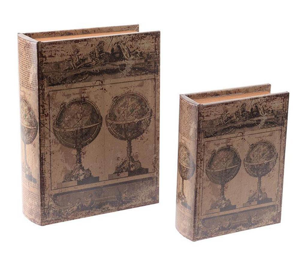 Set 2 kutije tipa knjige Antique Globes