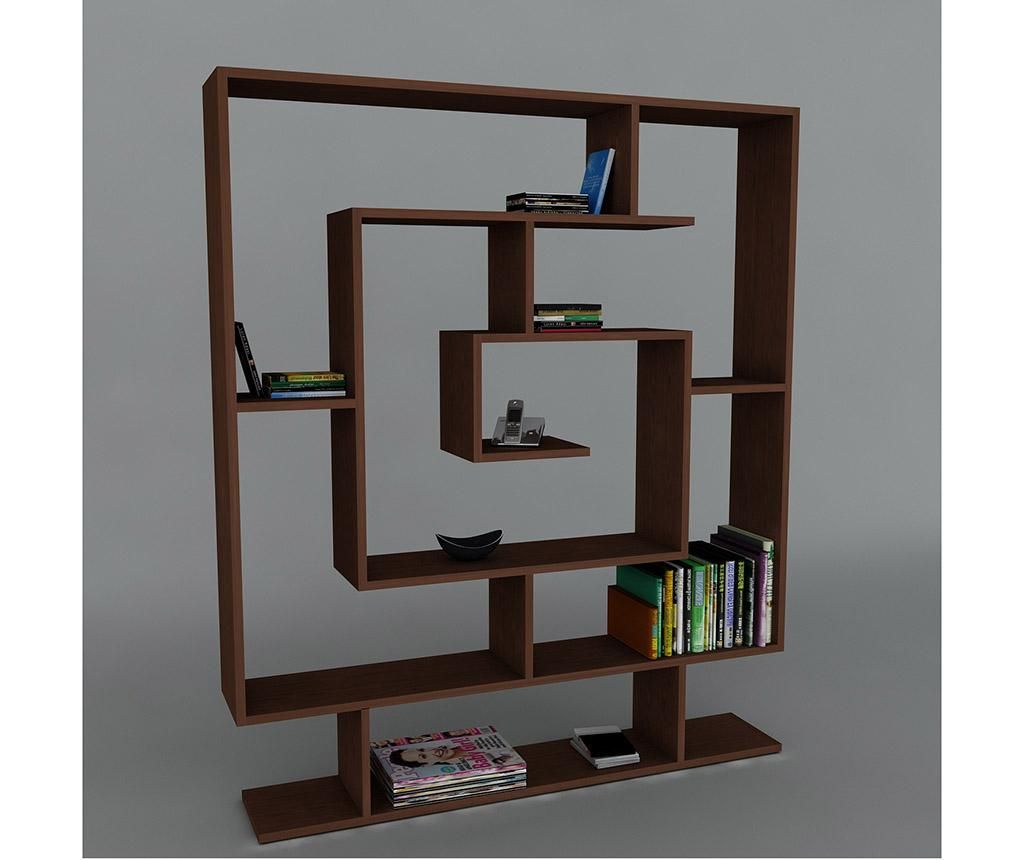 Knjižni regal Maze Dark Brown