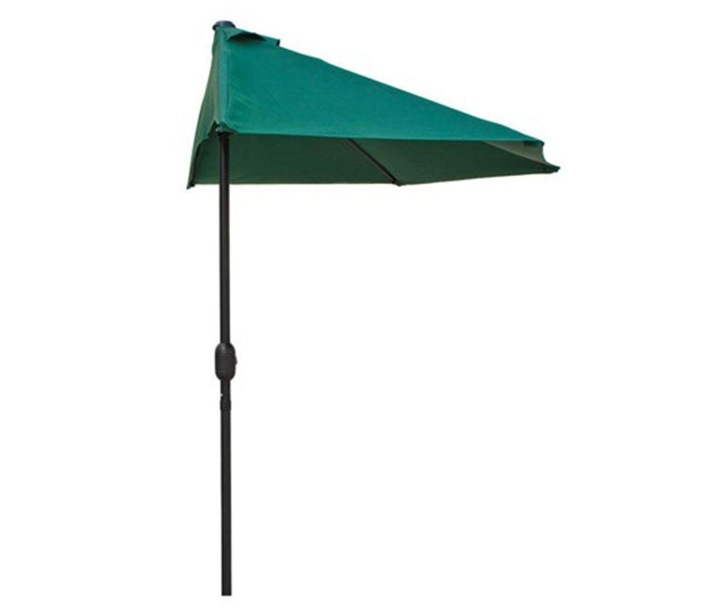 Плажен чадър Half Green