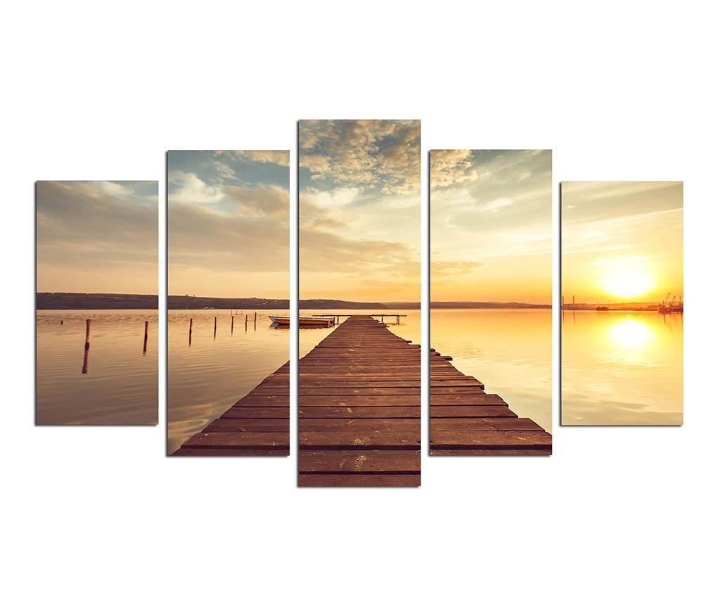 Σετ 5 πίνακες Sunset in Miami