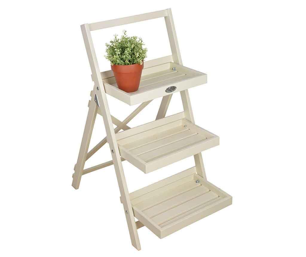 Suport pliabil pentru ghivece Stairs White