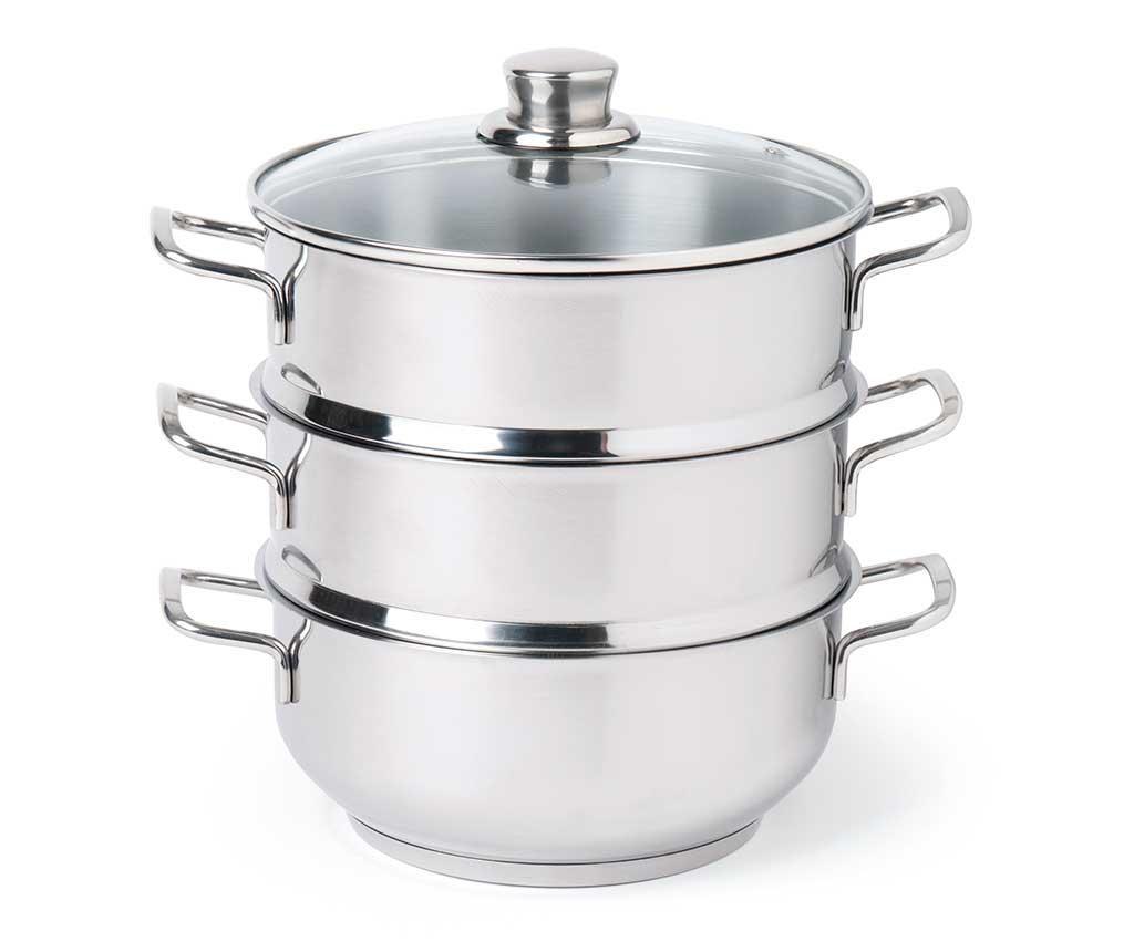 Zestaw garnek z przykrywką i 2 sitkami do gotowania na parze Cous Cous