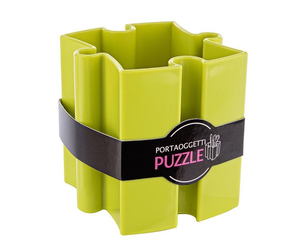 Suport pentru pixuri Puzzle Green