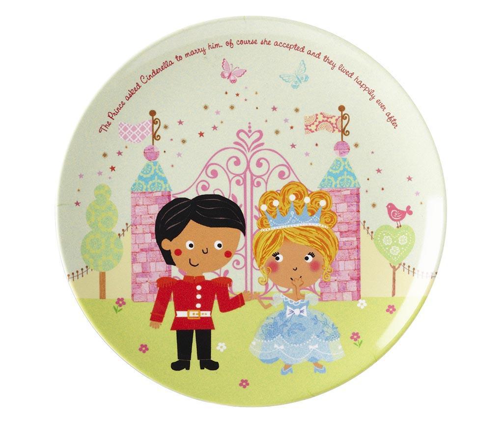Set mic dejun 3 piese pentru copii Cinderella