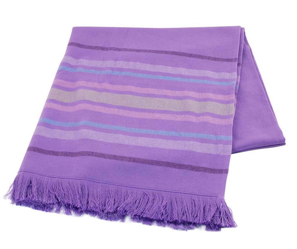 Prosop de baie Pestemal Lines Purple 70x170 cm
