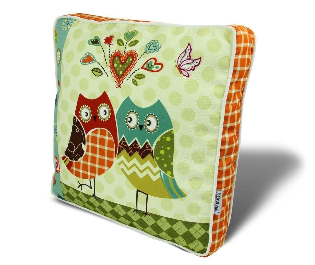 Poduszka na siedzisko Owl Couple 42x42 cm
