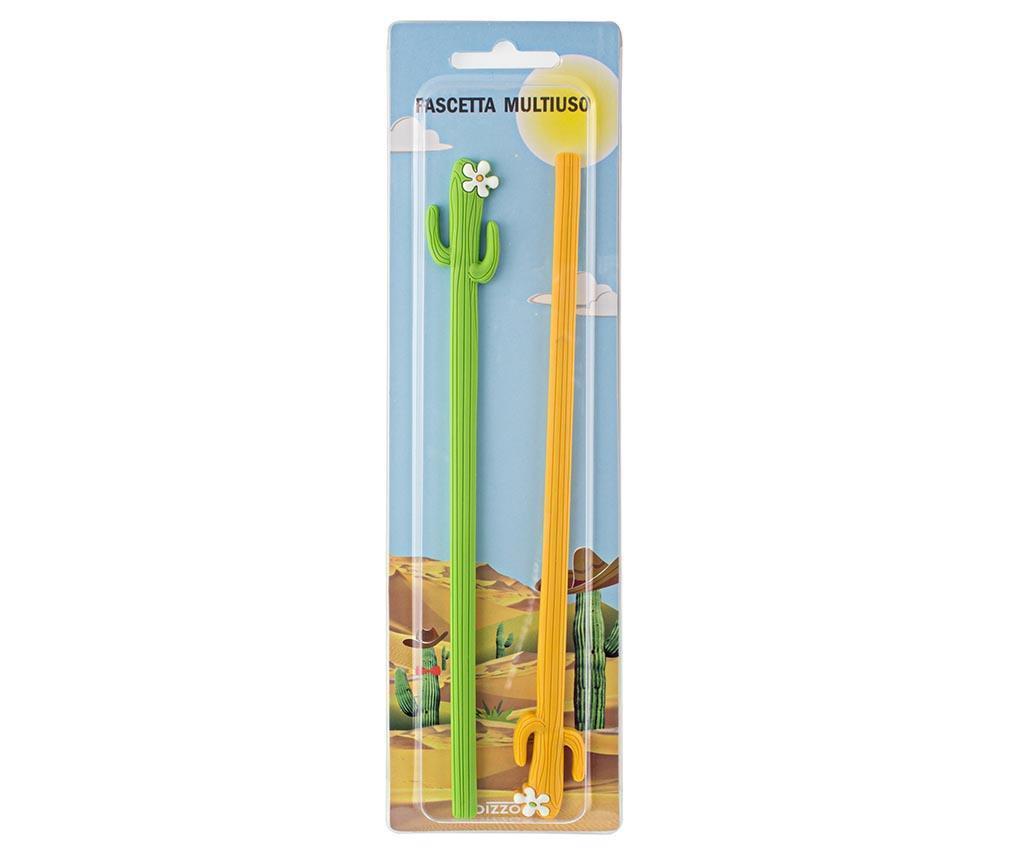 Set 2 accesorii stocare cablu Cactus