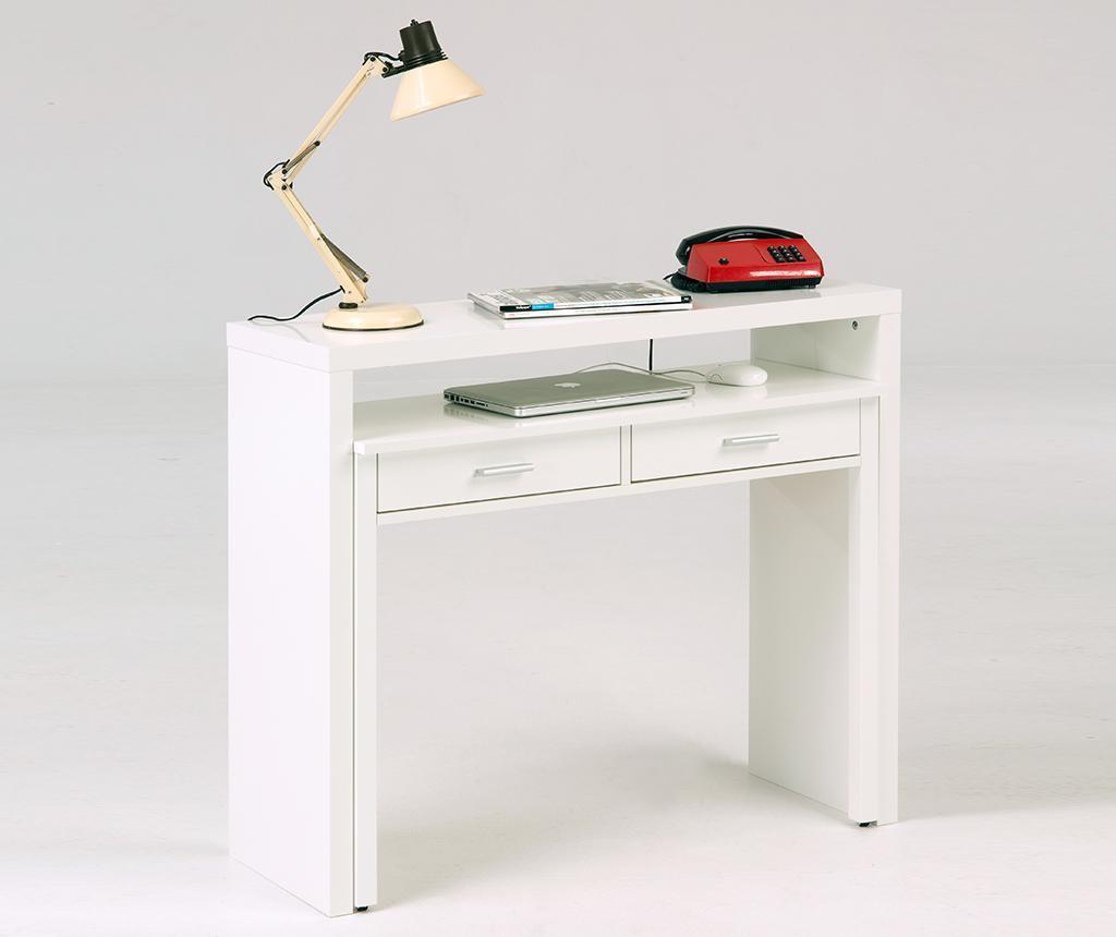 Konsola z wysuwanym biurkiem Number Nine White