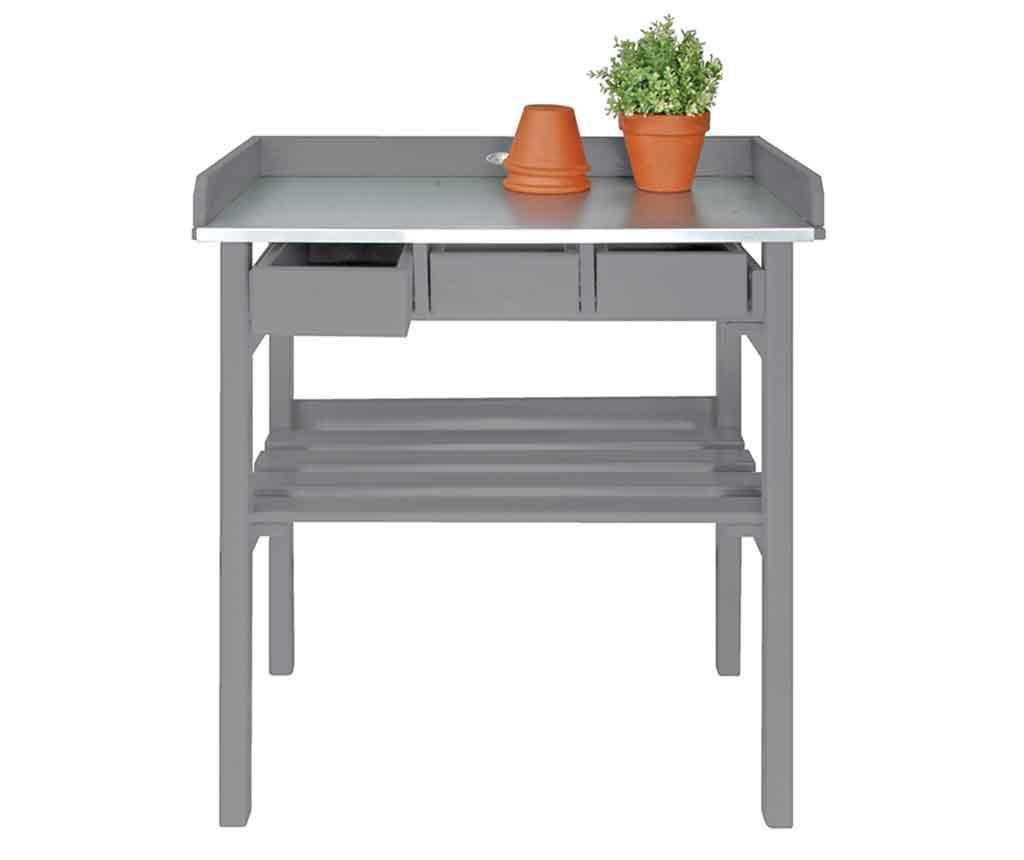Vrtlarski radni stol za vanjski prostor Ilas Grey
