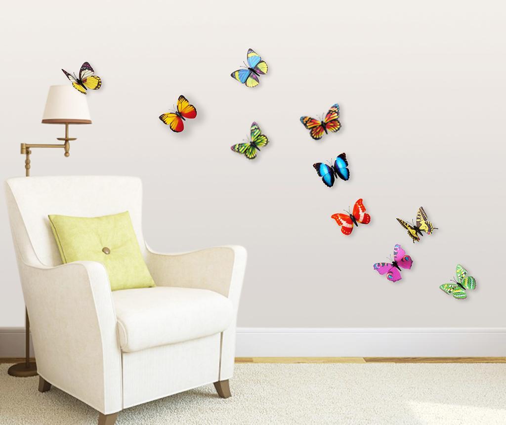 Colourful Butterflies 10  db 3D Matrica