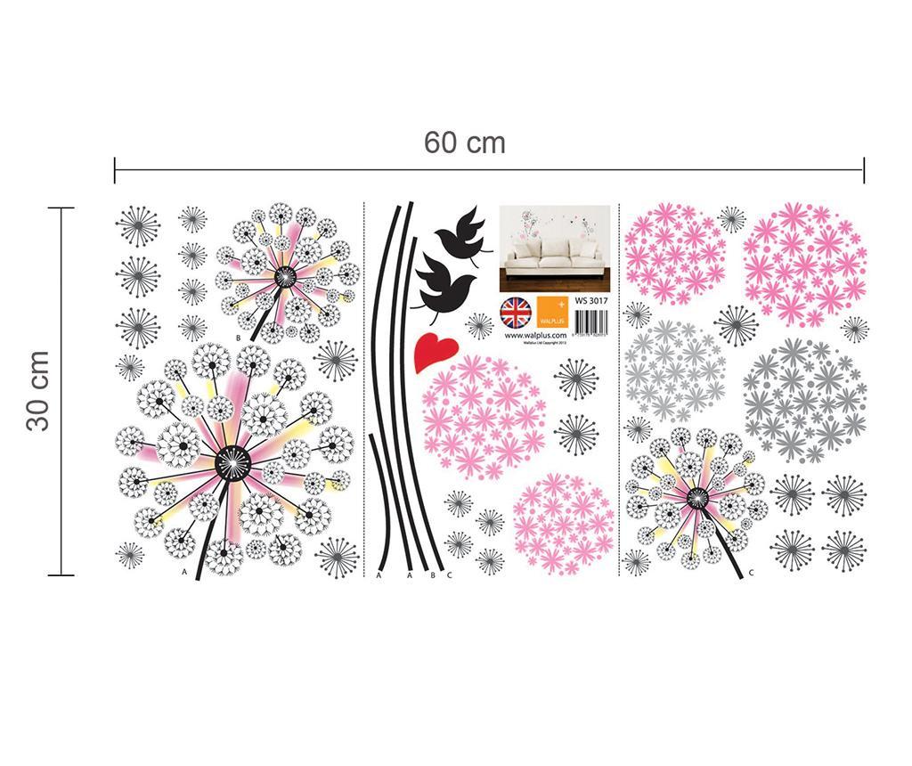 Sticker Pink Dandelion