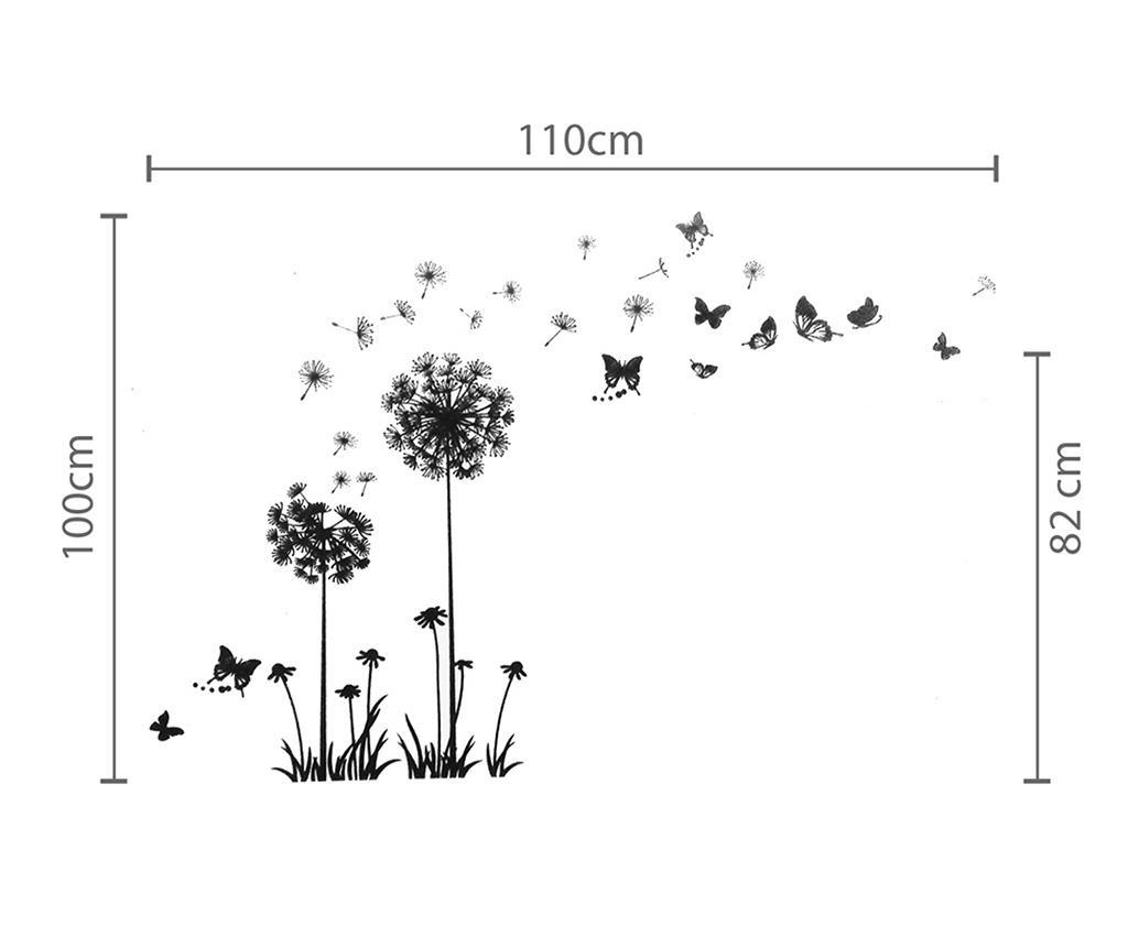 Dandelion Butterflies Black Matrica