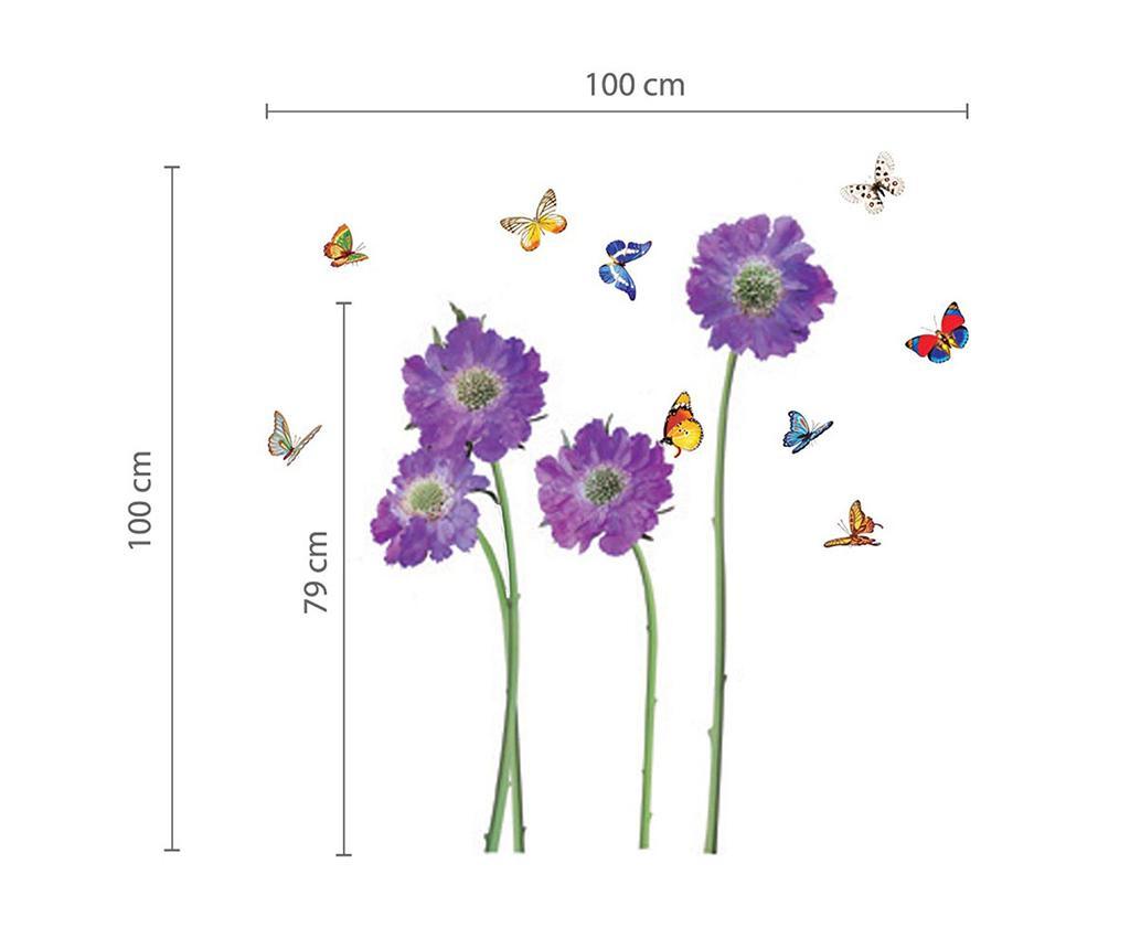 Nalepka Purple Flower