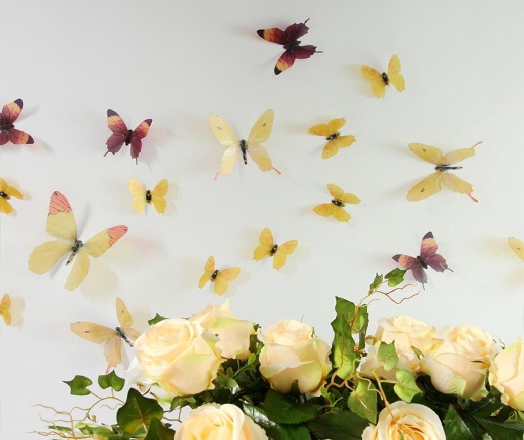Butterfly in Yellow 18 db 3D Matrica
