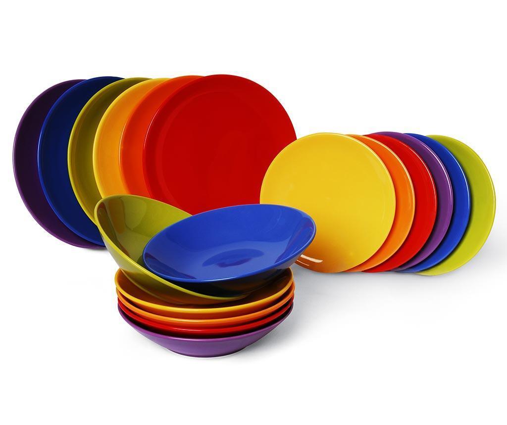 Trendy Multicolor 18 darabos Étkészlet
