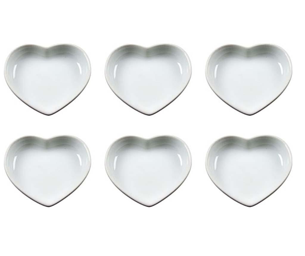Set 6 tanjura za predjela Mini Hearts