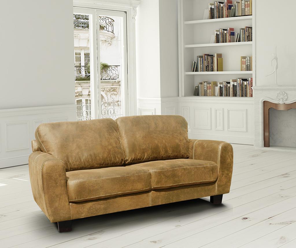 Canapea 3 locuri Tweed Caramel