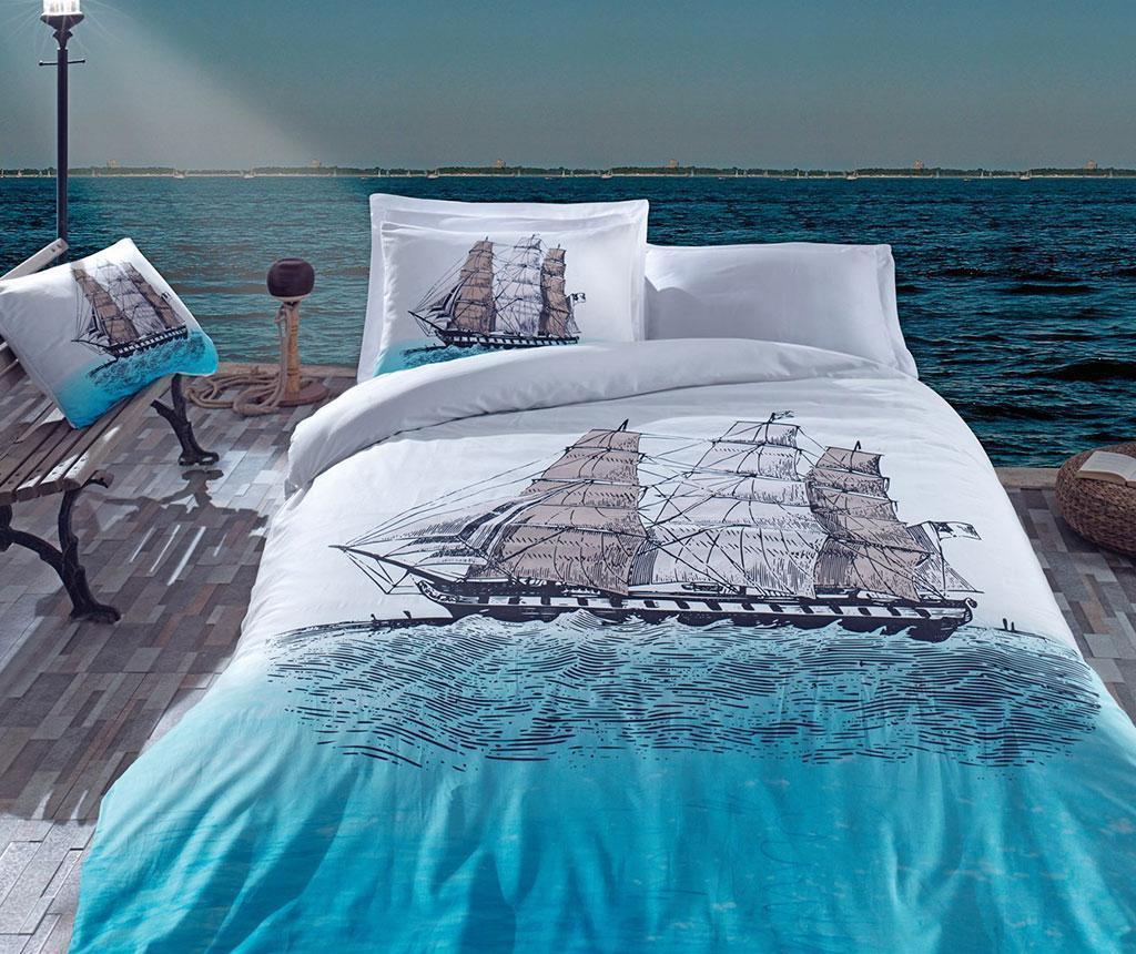 Lenjerie de pat King Ranforce Ship Blue