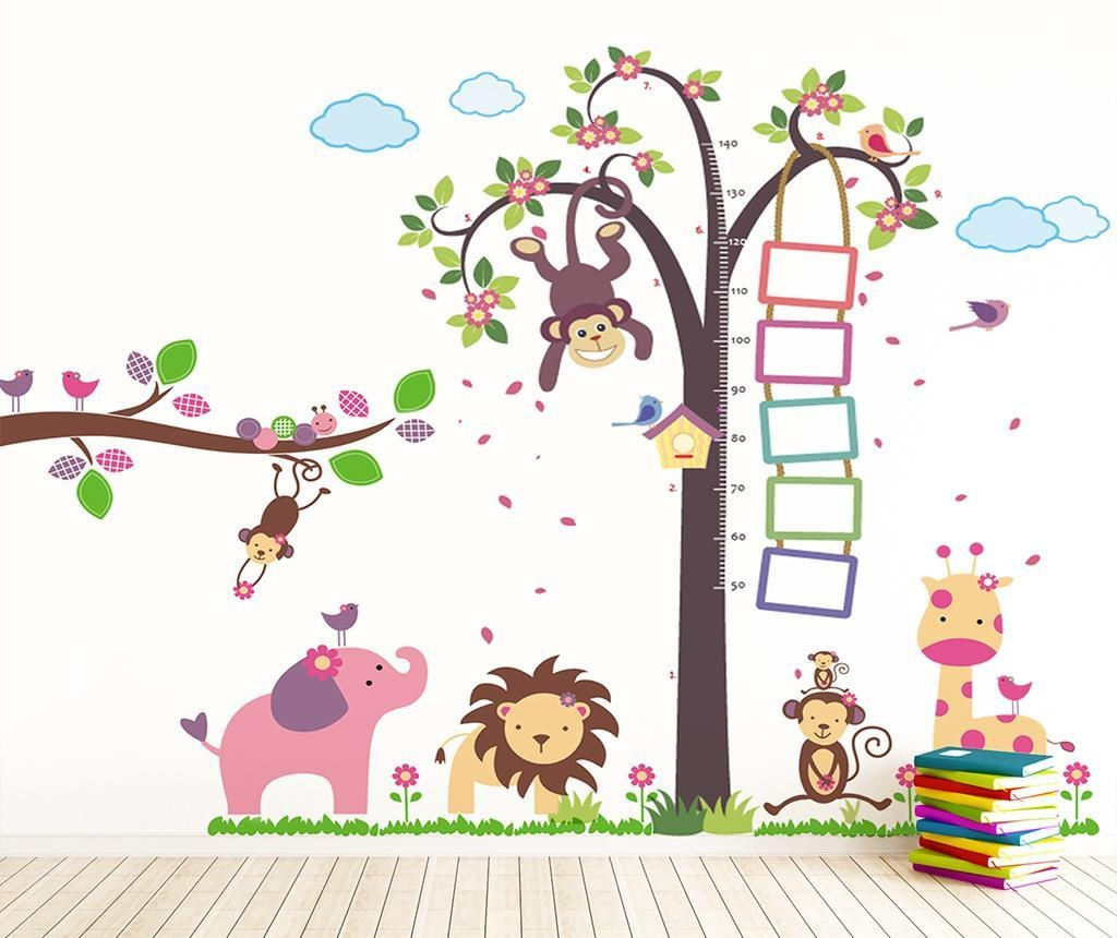 Monkey Height Measure and Animals Matrica