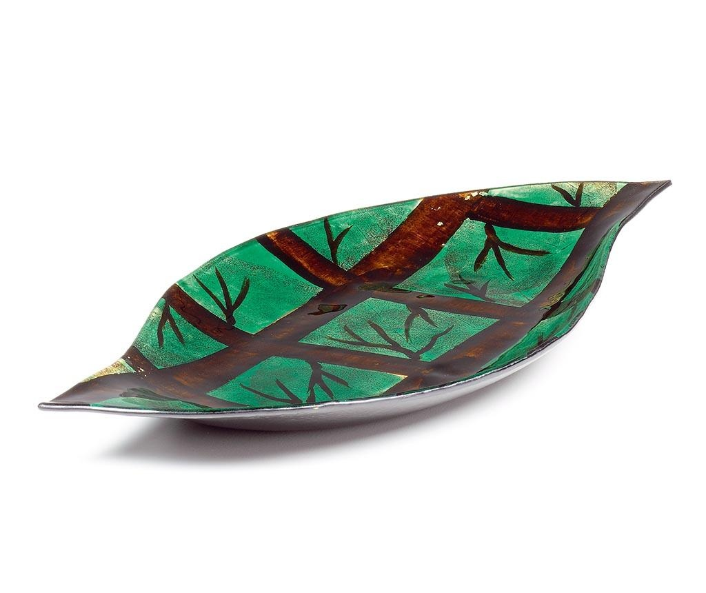 Dekorativni krožnik Trees Abstract Green