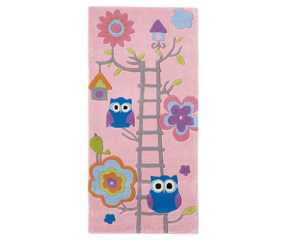 Tepih Owl on Ladder Pink 70x140 cm