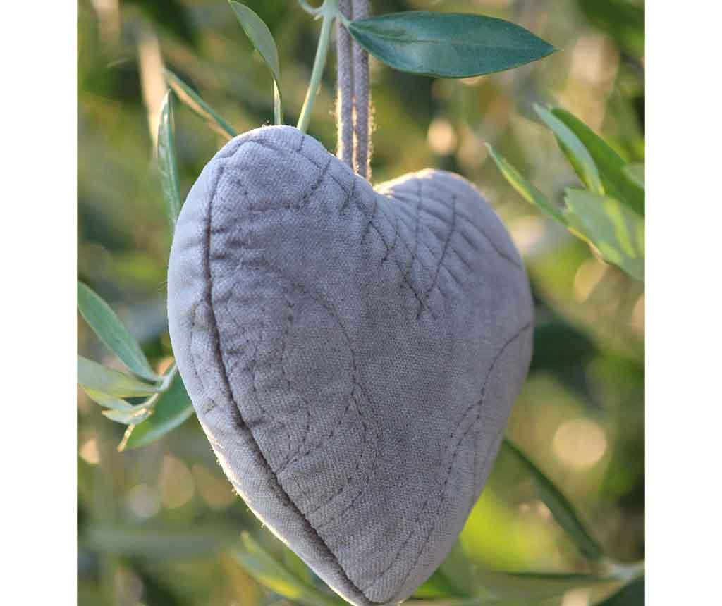 Heart Grey Felfüggeszthető dekoráció