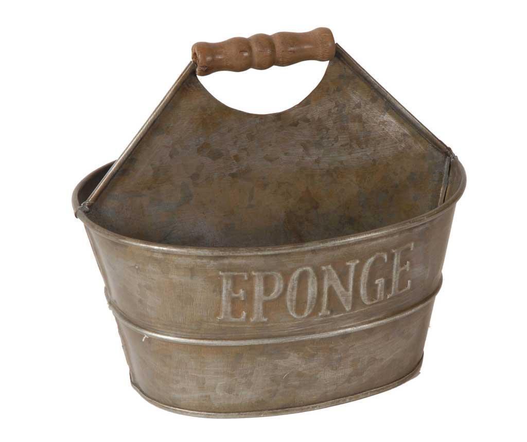 Držač za deterdžent i spužvicu za posuđe Antique Silver
