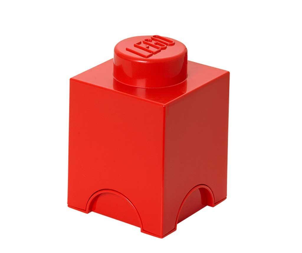 Lego Square Red Doboz fedővel