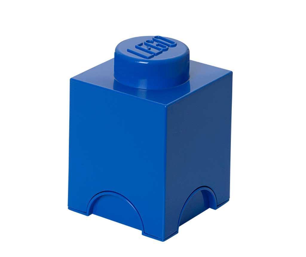 Lego Square Blue Doboz fedővel