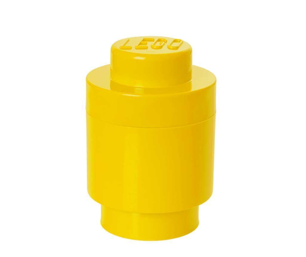 Lego Round Yellow Doboz fedővel