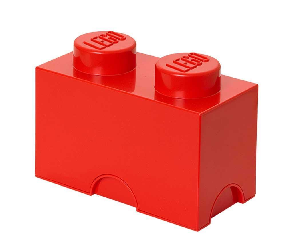 Cutie cu capac Lego Rectangular Red