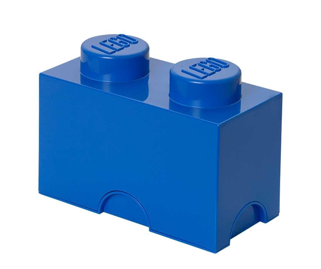 Cutie cu capac Lego Rectangular Blue