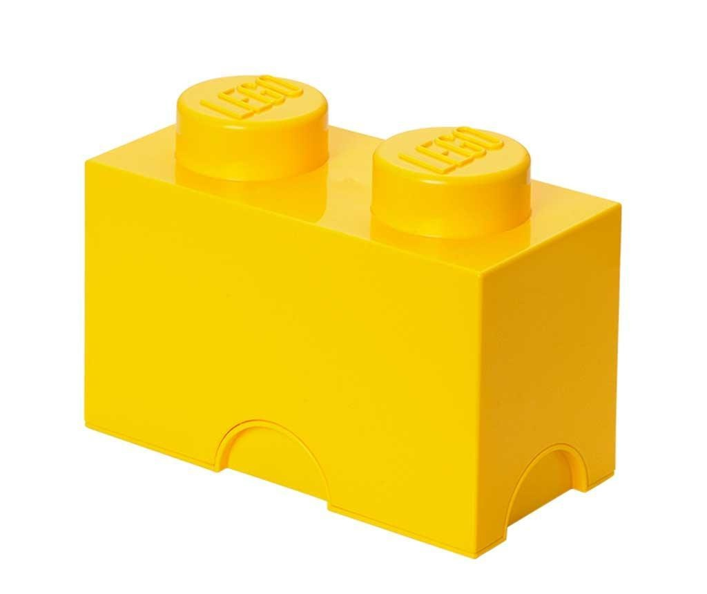 Kutija sa poklopcem Lego Rectangular Yellow