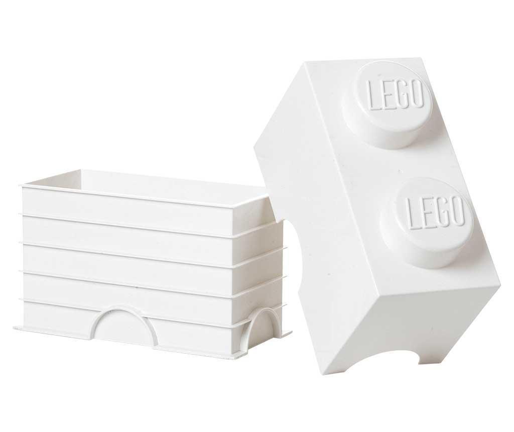 Cutie cu capac Lego Rectangular White