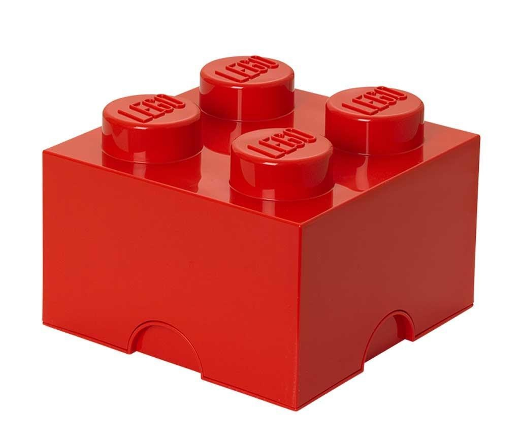 Lego Square Four Red Doboz fedővel