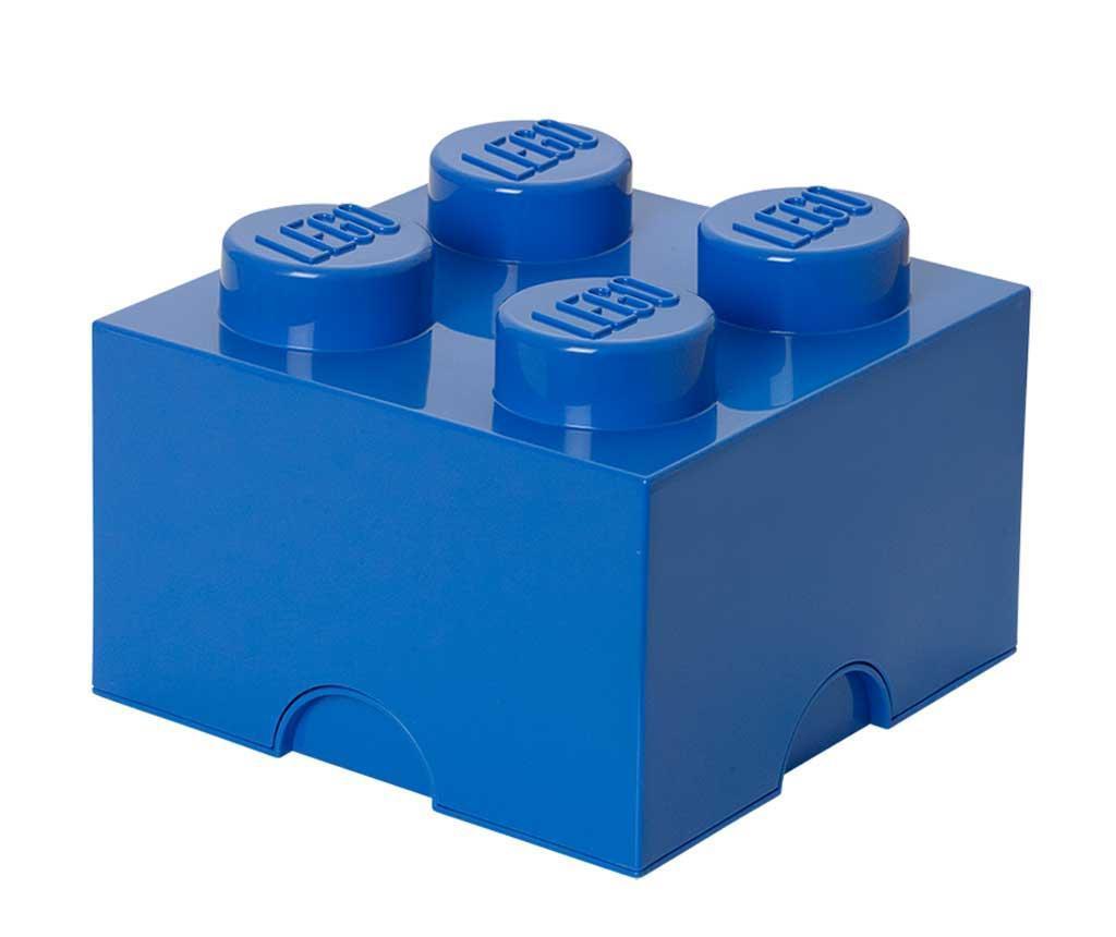 Cutie cu capac Lego Square Four Blue
